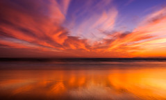 Newport Beach Pier (meeyak) Tags: newportbeach pier california orangecounty usa sunset sky clouds sand ocean water reflection mikemarshall art architecture colors nikon d800 1635mm 35mm travel vacation outdoors adventure