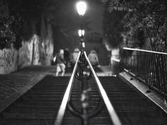 Climbing Montmartre (@phr_photo) Tags: monochrome paris montmartre street rue noiretblanc blackandwhite bnw perspective lines lignes nikon d750