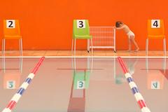 [ prisoner number 234 ] (Riccardo Romano) Tags: child bimbo bimba lavoro work spingere arancione orange piscina swimmingpool pannolino diaper