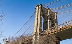 New York - Puente de Brooklyn IMG_3543 (lagord5 /) Tags: arquitectura torre cielo azul puente bridge brooklyn cable newyork