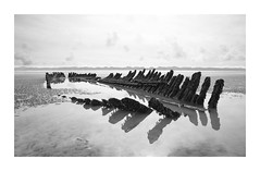Spine (Illogical_images) Tags: ss nornen shipwreck bnw mono blackandwhite a7r sony illogicalimages calm seaside