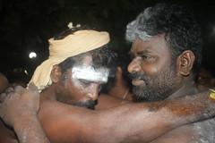 Shanmugham getting hooks inserted on his back (firoze shakir photographerno1) Tags: marriammenfeast2018 madraswadi worli shanmugham streetphotography hinduism shotbyfirozeshakir karumarriammen