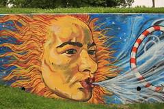 Bayonne Mural (Zawodowy Fotograf) Tags: bayonne new jersey hudson county mural sun painting canon 5d mark iii ef 100400mm