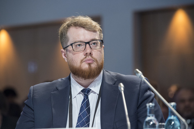 Oleksandr Ozeran at the Ministerial Session
