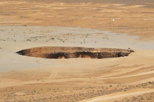 Darvaza Gas Crater - Daytime