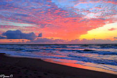 Sunrise Sky (Yvonne Oelsner) Tags: cocoabeach florida brevardcounty sunrise sky clouds waves landscape seascape beach nature