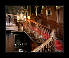 How many feet have climbed these stairs? (Audrey A Jackson) Tags: canon60d charlecotepark staircase elegant history wallpanelling lights portraits balustrade