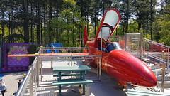 "PZL TS-11 bisB Iskra c/n 1H-0214 Poland Air Force serial 214 preserved inside themepark ""Julianatoren"", The Netherlands (Erwin's photo's) Tags: pzl ts11 bisb iskra cn 1h0214 poland air force serial 214 preserved inside themepark julianatoren the netherlands"