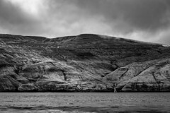 Vestmanna - black and white (Robert Schöller) Tags: blackandwhite bw vestmanna faroeislands waterfall seascape landscape dark nikond800