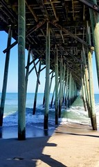 """"""" I will love you as the sea loves. In gentle waves and in ferocious storms.""""  - Nick Frederickson (jolynn_) Tags: ocean pier beach love"""