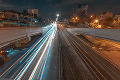 Northbound C5 (AllanAnovaPhotos) Tags: c5 kalayaan philippines taguig makati road longexposure lighttrails car cars cartrail cartrails elevated highway