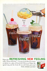 Vintage 1961 Coca Cola ad (Rocketlandphoto.com) Tags: nationalgeographic scan colorful cocacola advertisement vintagead vintage cokefloat summer classic retro retroad advertising 1960s madmen print graphicdesign