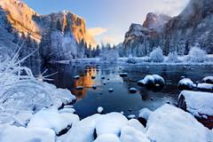 Winter Season in Yosemite National Park (denysmyakota) Tags: yosemitenationalpark nationalpark winter snow seasons california thebridge elcaptain river stream valleyview sunrise sunset halfdome unitedstates