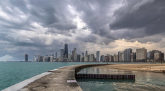 Chicago Skyline.... (Kevin Povenz Thanks for all the views and comments) Tags: 2016 june kevinpovenz illinios chicago pierpark windycity evening sunset clouds storm stormy pier lakemichigan skyline skyscrapers outside outdoors dusk city downtown cityscape
