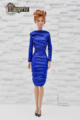 This blue dress looks wonderful on Poppy Parker fashion doll (elenpriv) Tags: poppy parker fashion doll integrity toys jason wu handmade clothes elenpriv elena peredreeva fashions blue dress