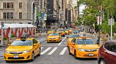 nyc traffic (poludziber1) Tags: street streetphotography summer city colorful cityscape ny nyc newyork yellow color cars travel urban usa