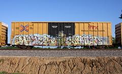 Mayor/Kosher (quiet-silence) Tags: graffiti graff freight fr8 train railroad railcar art mayor kosher d30 dirty30 boxcar ttx tbox tbox661383