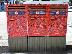 Vancouver triple boxes Granville Street Canada (Bridgemarker Tim) Tags: canada postboxes royalmail