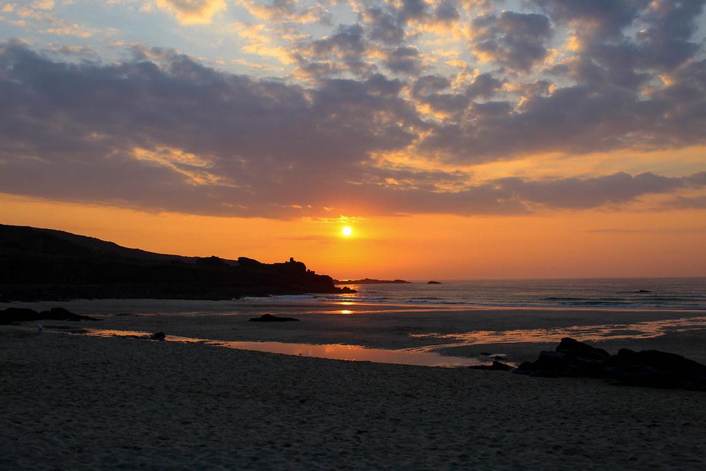 Porthmeor Beach St Ives - Cornwall - Sunset