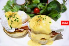 The Queen's Egg Ben (APERTURE X & THE CULINARY ADVENTURER) Tags: food singapore bistrocafe eggbenedict ham muffin poachedegg hollandaisesauce