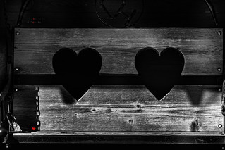 two hearts ~ one bench