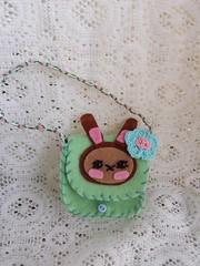 Bunny Bag (Mel's Girls) Tags: feltbag ooak handmade blythe neoblythe pullip azone rabbit bunny lopeared cute soft felt