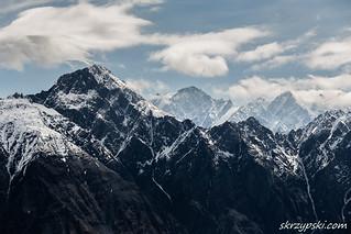 Summits of Kuro mountains range