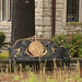 Ornate iron garden bench