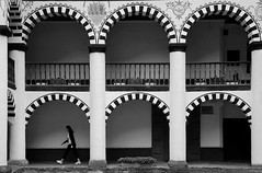 (cherco) Tags: woman mujer solitario solitary silhouette arquitectura architecture arch arco alone aloner lonely solitaria repetition repeticion rila bulgaria monastery 6 six blancoynegro blackandwhite teen light luz lines lineas composition composicion canon city r