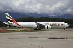 A6-EQI Boeing B773 GVA 30May2018 (Citation Ten) Tags: a6eqi b773 uae emirates ebace2018 gva