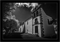 Fuencaliente, La Palma,  Canary Islands, Sony A7 IR, Nikkor 18mm/3.5 (Bartonio) Tags: architecture bw canaryislands church fuencaliente iglesia infrared ir islascanarias lapalma modified monochrome nikkor18mm35 sonya7ir