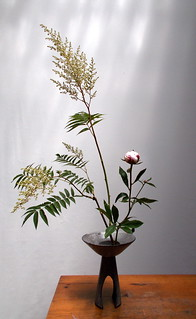Ikebana Shin Ka Tai - Sorbier et Pivoine