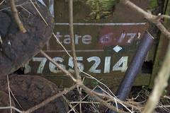 20180222 002 Fomer Farm, Shenton. BR 12T Van B765214 (15038) Tags: railways trains br britishrail wagons goods freight fomerfarm shenton 12tvan grounded 765214