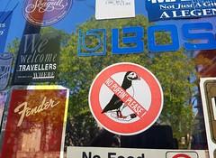 No puffin' please! (Fred:) Tags: puffin oiseau bird sign nosmoking affiche enseigne prohibition prohibited funny signe sticker stickers interdiction fumer cigarette smoke macareux halifax novascotia halifaxfolklorecentre folklore centre center