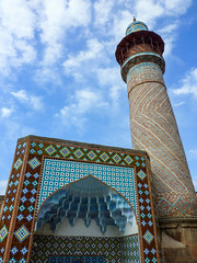 Happy Friday ! / Minaret of the blue mosque in Yerevan, Armenia (Frans.Sellies) Tags: p1250692 minaret mosque yerevan erevan armenia armenien gökjami