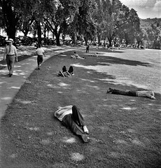 Ellipse Park in Washington, D.C. on a hot Sunday June 1942. (polkbritton) Tags: washingtondchistory marjorycollins 1940s fsaowi vintagefashion libraryofcongresscollections