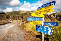 ºº Papatowai Highway Catlins NZ ºº (m+m+t) Tags: dscf18801 mmt meredithbibersteindesign newzealand southisland catlins coast wild remote nature outdoors landscape fujixt1 fujixseries fujimirrorless 1855mm papatowaihighway papatowai road bridge signage sign type roadsign