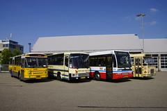 DVM 1698, Betuwe Express 83, Arriva 908 en Stadsbus Maastricht 32 voor de bus garage in Heerlen 19-05-2018 (marcelwijers) Tags: dvm1698 betuweexpress83 dvm 1698 betuwe express 83 arriva 908 en stadsbus maastricht 32 voor de bus garage heerlen 19052018 coach öpnv niederlande nederland netherlands pays bas zuid touringcar lijnbus linienbus autobus autocar