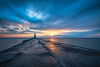 After the Storm (B.E.K. Photography) Tags: southampton ontario canada lake huron longexposure lighthouse sunset pier dock water streaming clouds orange pink blue cracks concrete cracked crack wide nikond850 nikon1735f28 glow bruce county saugeen river shores