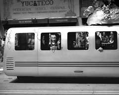 Screaming out of the window (jameswilkinson1) Tags: urban streetpassionaward streetphotography street carnaval people blackandwhite bnw