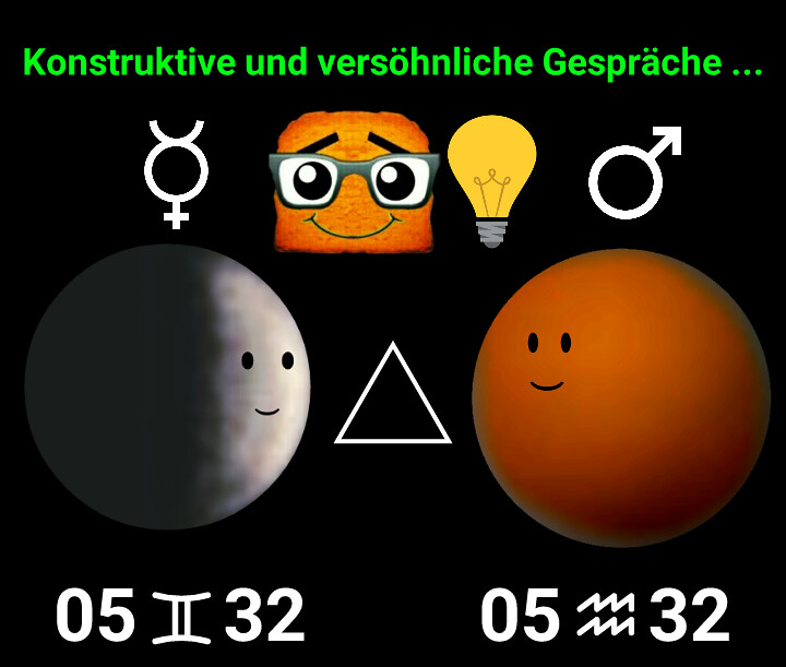 Merkur Trigon Mars