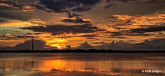 The Amber Sunset (pandt) Tags: amber sunset evening florida outdoor panorama landscape sky water sea coastal clouds yellow reflection ftdesoto sunlight pinellas county flickr orange shadows canon eos slr 7d serene dusk park