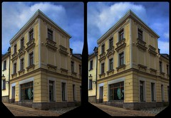 Lange Gasse, Reichenbach 3-D / CrossEye / Stereoscopy / HDRaw (Stereotron) Tags: saxony sachsen vogtland reichenbach altstadt architektur europe germany deutschland crosseye crossview xview pair freeview sidebyside sbs kreuzblick 3d 3dphoto 3dstereo 3rddimension spatial stereo stereo3d stereophoto stereophotography stereoscopic stereoscopy stereotron threedimensional stereoview stereophotomaker stereophotograph 3dpicture 3dimage hyperstereo twin canon eos 550d yongnuo radio transmitter remote control synchron kitlens 1855mm tonemapping hdr hdri raw
