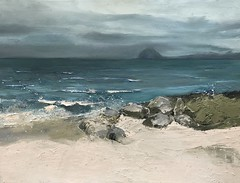 Weather's Changing - Aisla Craig oil on canvas - available (www.sandragraham.co.uk) Tags: ar art arran artist artartworkartistartistscontemporaryartcollectorstreambrookburnwaterflowingnaturepaintingartistsimpastopainting seascape seascapes beachseascape british scotland