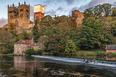 Autumn In Durham (robinta) Tags: england ngc pentax ks1 sigma1770 durham cathedral architecture historic landmark cityscape river wear water reflections gothic church christianity worship trees pentaxart fall colour colors