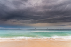 Overcast Morning at the Seaside (Merrillie) Tags: daybreak wamberalbeach sand sunrise sea centralcoast nature water morning surf overcast wamberal weather newsouthwales waves earlymorning nsw australia beach ocean landscape waterscape sky coastal clouds outdoors seascape dawn coast cloudy seaside