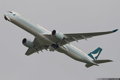 Cathay Pacific Airbus A350-1041 cn 118 F-WZGV // B-LXA (Clément Alloing - CAphotography) Tags: cathay pacific airbus a3501041 cn 118 fwzgv blxa toulouse airport aeroport airplane aircraft flight test canon 100400 spotting tls lfbo aeropuerto blagnac airways aeroplane engine sky ground take off landing 1d mark iv