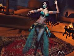 Belly dancer (Max McMahon) Tags: irrisistible arab arabian dancer belly fantasy sl second life secondlife