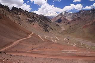 Paso Cristo Redentor de los Andes, dirtroad back to Las Cuevas