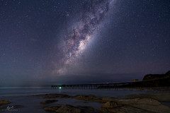 Catherine Hill Bay pier [Explored] (FPL_2015) Tags: catherinehillsbay sydney nsw australia nightscape seascape stars astrophotography sky sonya7riii sony1635gm